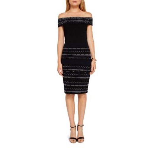 TED BAKER Diraz Off-The-Shoulder Ribbed Knit Dress