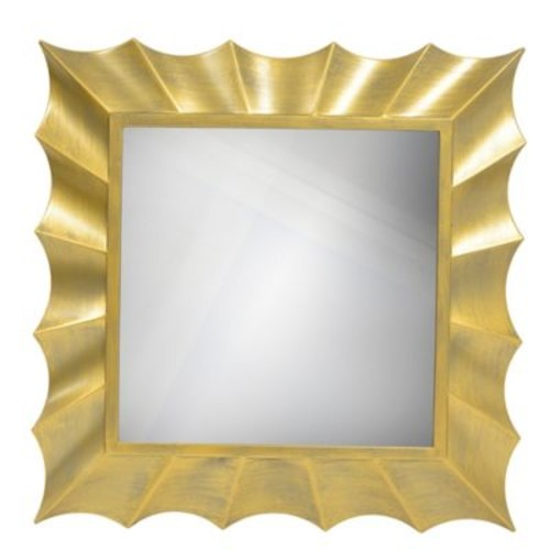 Dcor Therapy Wave 30-Inch Square Wall Mirror in G