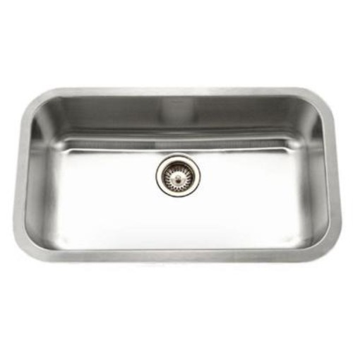 Houzer Eston Series Undermount Stainless Steel 32 in. Single Bowl Kitchen Sink in Satin