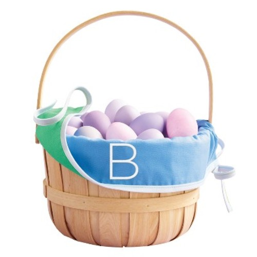 Monogram Easter Basket Liner Cool Colors - Spritz