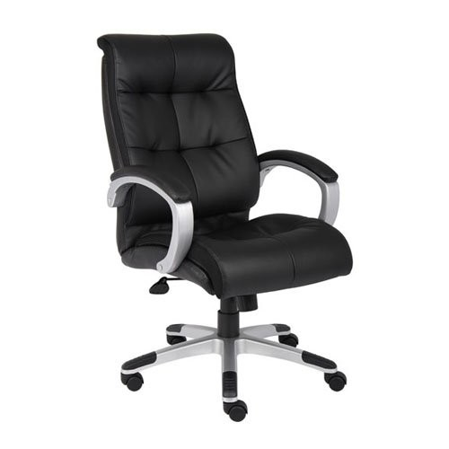 Boss Office Products B8771P-BN Double Plush High Back Executive Chair in Brown [Brown / Pewter]