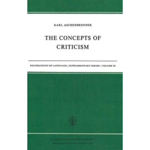 The Concepts of Criticism / Edition 1