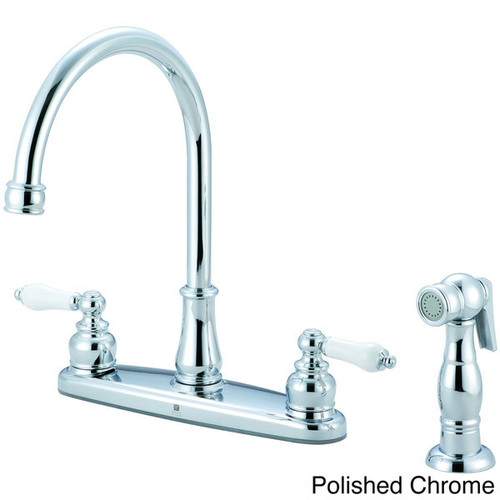 Pioneer Brentwood Series Two-Handle Chrome-Finished Kitchen Faucet [option : PVD Brushed Nickel Finish]