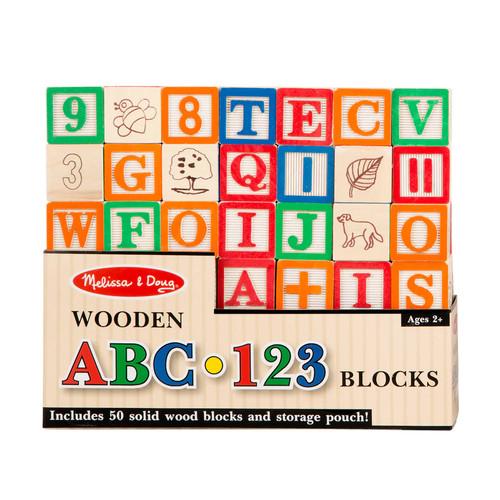 5 Pack MELISSA & DOUG WOODEN ABC/123 BLOCKS