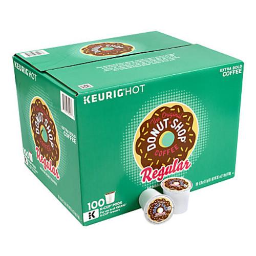 The Original Donut Shop Regular Medium Roast Coffee K-Cup Pods, 1 Oz, Pack Of 100 Pods