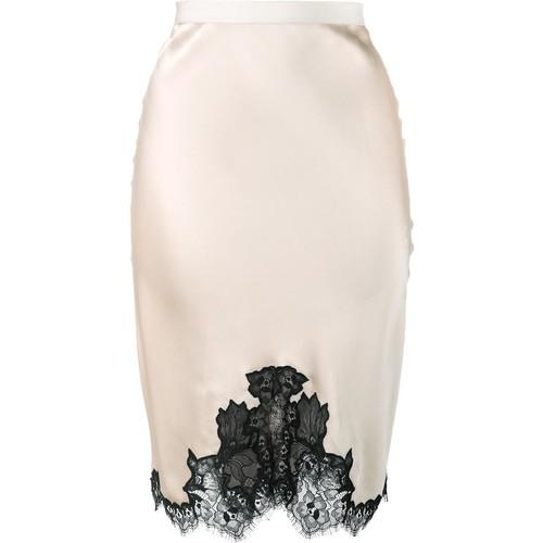 HELMUT LANG Lace-Trimmed Slip Skirt