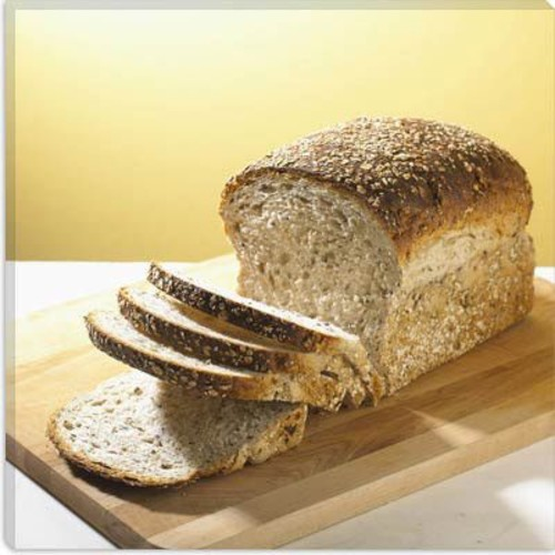 iCanvas Food and Cuisine Sliced Bread Photographic Print on Canvas; 12'' H x 12'' W x 1.5'' D