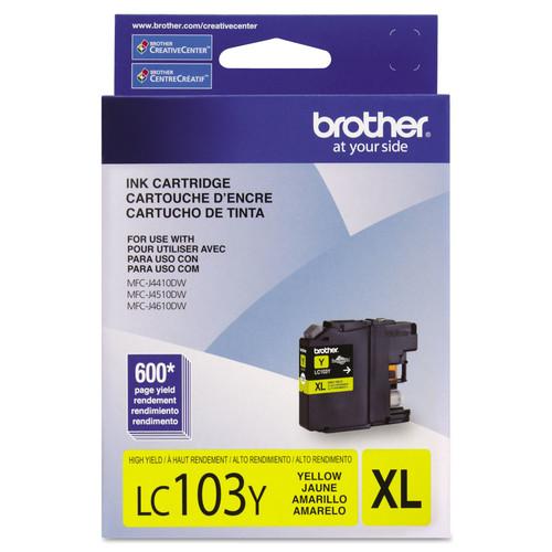 Brother BRTLC103Y LC103Y Innobella High-Yield Ink, Yellow