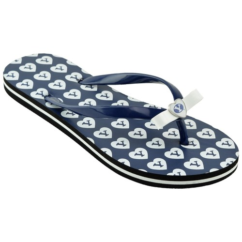 NCAA Women's Brigham Young University Cougars Blue/White Flip-Flop