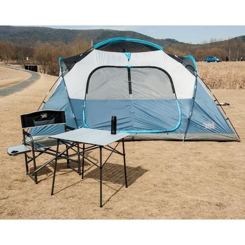 TimberRidge Roll-Up White Aluminum Camping Folding Table