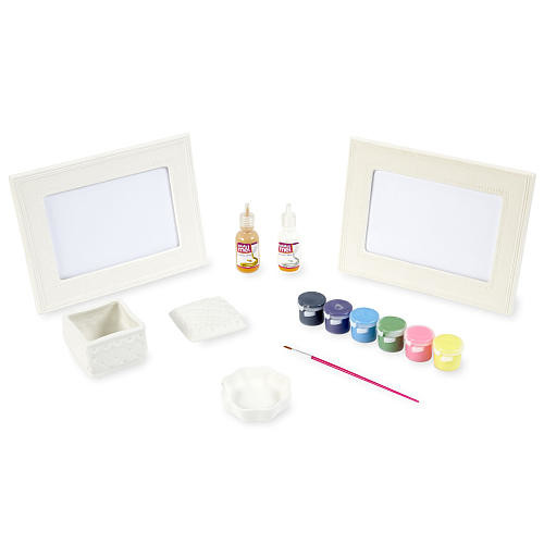 Totally Me! Puffy Paint Pottery Kit - 4 Piece