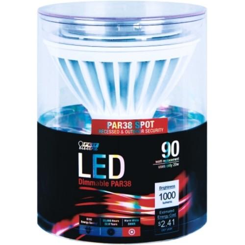FEIT Electric LED Bulb 17 watts 1000 lumens Spotlight PAR38 Warm White 1 pk 5 in.(PAR38/SP/LEDG10)