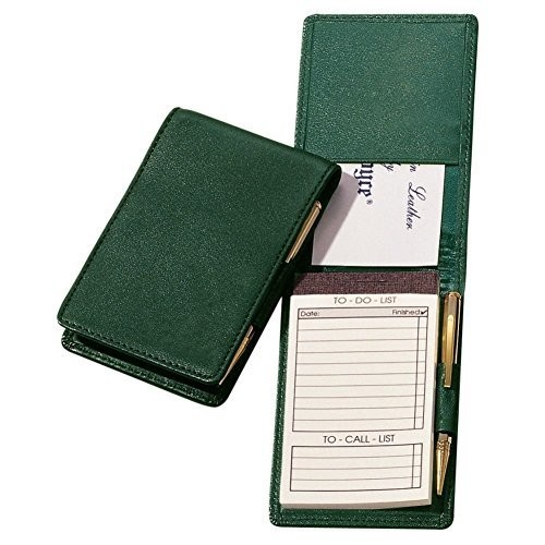 Royce Leather Deluxe Flip Style Note Jotter [Black, One Size]