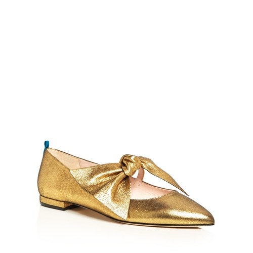 SJP BY SARAH JESSICA PARKER Farah Metallic Bow Pointed Toe Ballet Flats - 100% Exclusive
