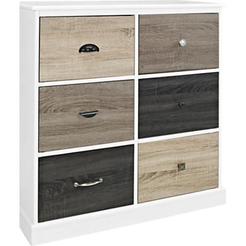 Ameriwood Altra Mercer Engineered Wood 6-Door Storage Cabinet, Multicolor