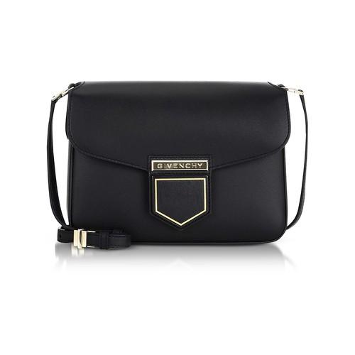 Nobile Small Black Leather Shoulder Bag