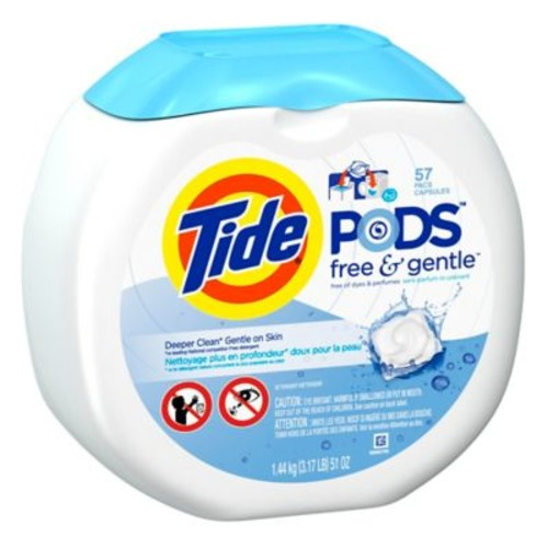 Tide PODS 57-Count Laundry Detergent in Free and Clear