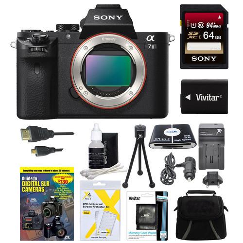 Sony Alpha 7II Interchangeable Lens Camera Body 64GB Bundle