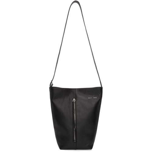 Black Panel Bucket Bag