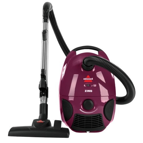 Bissell Zing Bagged Canister Vacuum, Purple, 4122 - Corded [Vacuum Only]