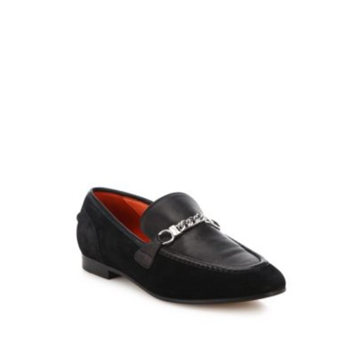 Cooper Suede Chain Loafers