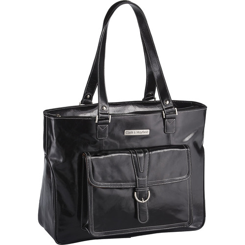 Clark & Mayfield Stafford Vintage Leather Laptop Tote 17.3