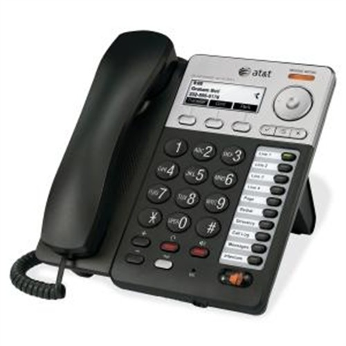 AT&T Syn248 IP Phone - Wireless - Desktop, Wall Mountable - Silver, Black SB35025