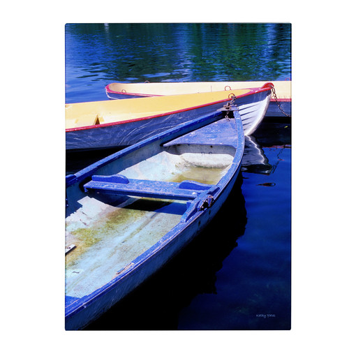 Trademark Global Kathy Yates 'Bois de Boulogne Boats' Canvas Art [Overall Dimensions : 14x19]