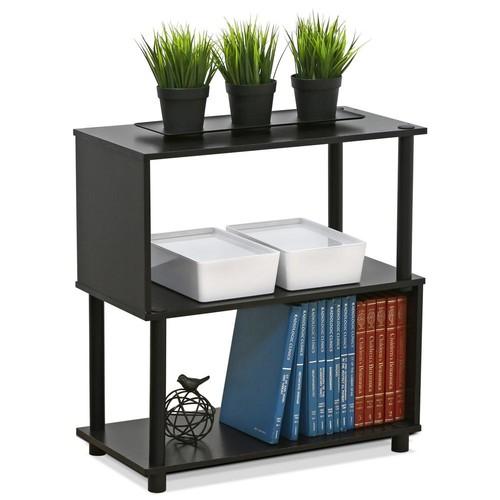 Furinno Flexi Espresso Modern Design 2-Shelf Open Bookcase
