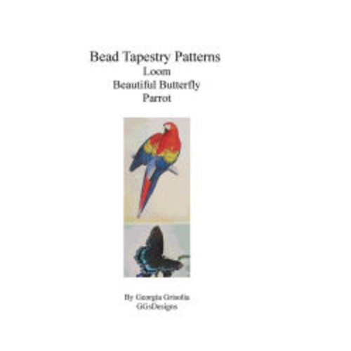 Bead Tapestry Patterns Loom Beautiful Butterfly Parrot