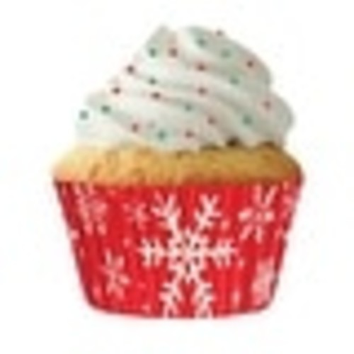 Cupcake Creations 8887 Standard Cupcake Liners Snowflake, 32 Count