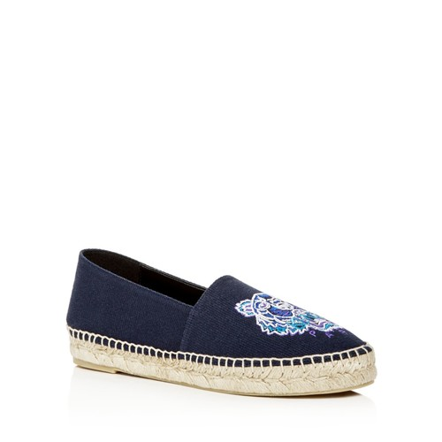 KENZO Classic Embroidered Platform Espadrille Flats