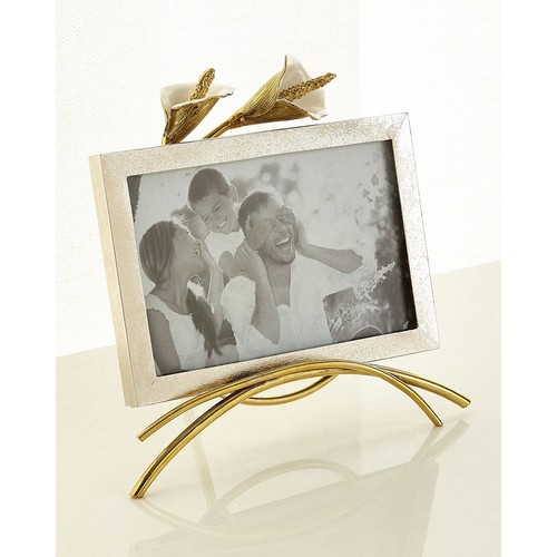 Calla Lily Easel Picture Frame, 4 x 6