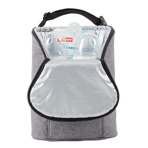 Skip Hop Grab and Go Double Bottle Bag - Heather Grey