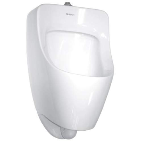 Sloan SU-7009-A Efficiency Dual Flush 0.125 to 0.5 GPF Small Urinal with Top Spu, White [White]