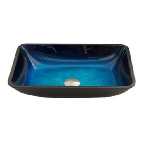 Vigo VG07068 Sapphire Glass Vessel Sink in Blue