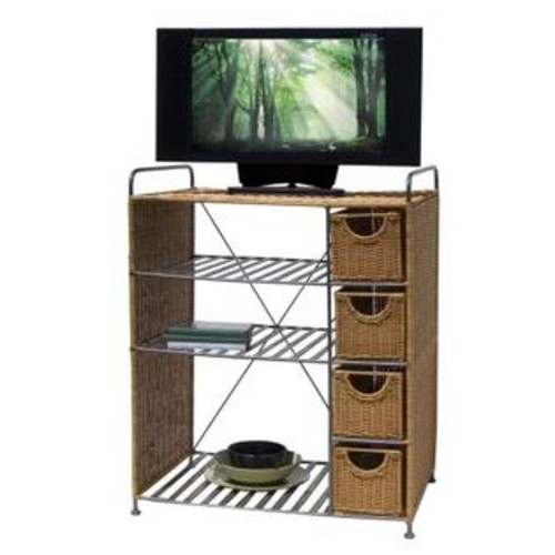 Neu Home 22112 Wicker Media Unit Honey