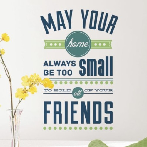 RoomMates Room for Friends Quote Peel and Stick Wall Decals