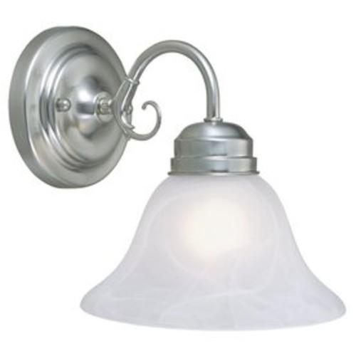 Design House Millbridge 1-Light 8.875-in Satin nickel Bell Vanity Light