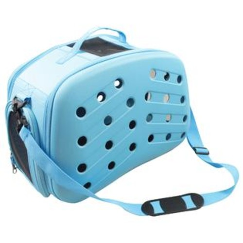 Pet Life Narrow Shelled Collapsible Perforated Lightweight Military Grade Transportable Designer Pet Carrier