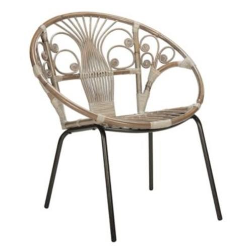 Safavieh Carlson Rattan Accent Chair in Grey