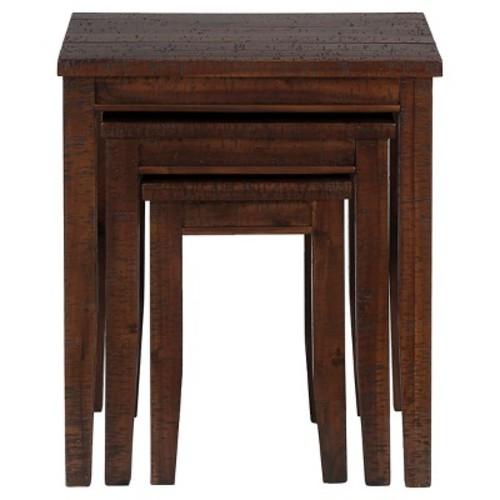 Urban Lodge Nesting Tables Brown (Set of 3) - Jofran Inc.