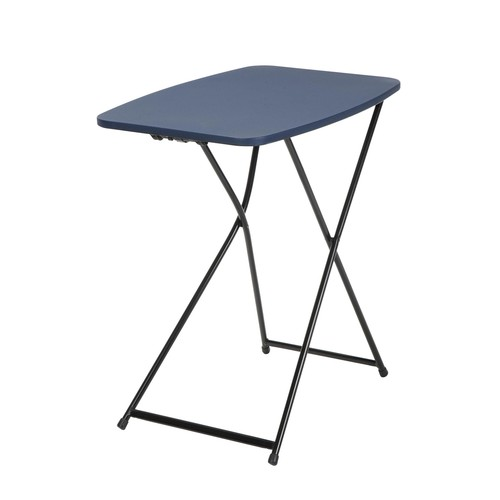 Cosco Home and Office Products 18 x 26u0026#8221; Dark Blue Adjustable Height Personal Folding Tailgate Table, 2 Pack