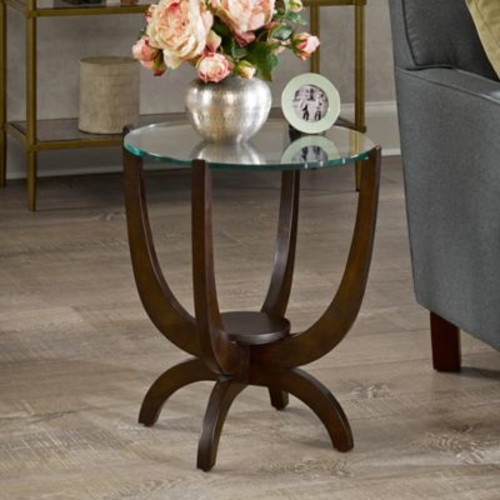 Madison Park Signature Truman Occasional Table with a Morocco Brown Finish