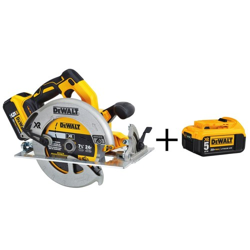DEWALT 20-Volt MAX Lithium Ion 7-1/4 in. Cordless Circular Saw with Bonus 20-Volt MAX Lithium-Ion Premium Battery Pack