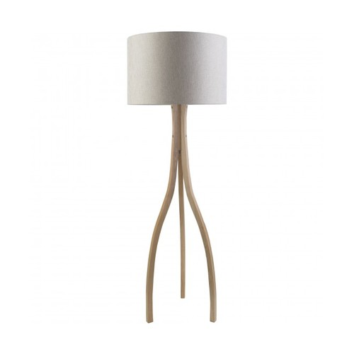 Lewis Wishbone Floor Lamp, Linen