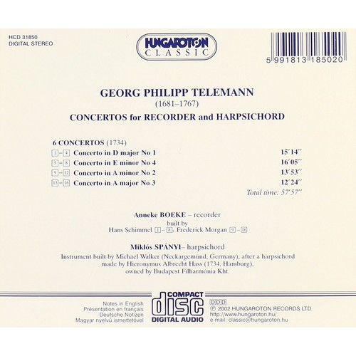 Telemann: concertos For Recorder &