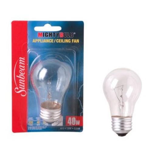 Appliance Light Bulb, 40 Watt, Clear Incandescent