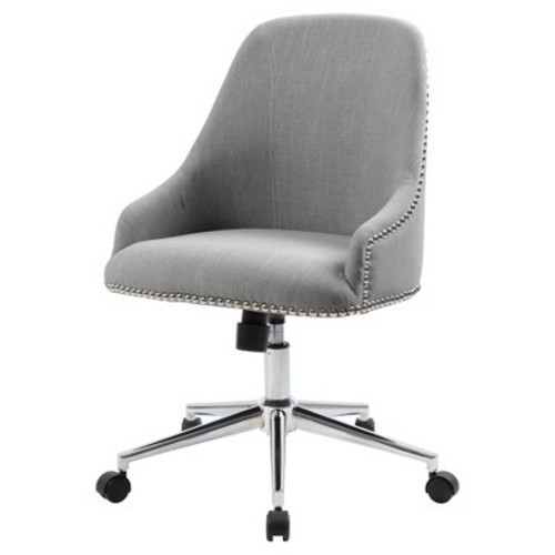Boss Office Products Grey Carnegie Desk Chair