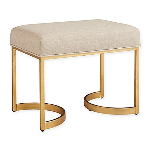 Stanley Furniture Virage Bed End Bench in Antique Gold Leaf